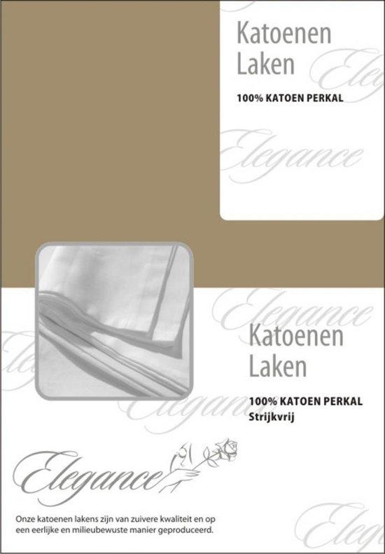 Elegance Laken Katoen Perkal - zand 240x275