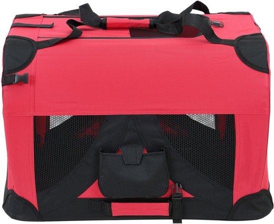 [pro.tec]® Dieren transportbox - reismand - rood - XXXXL