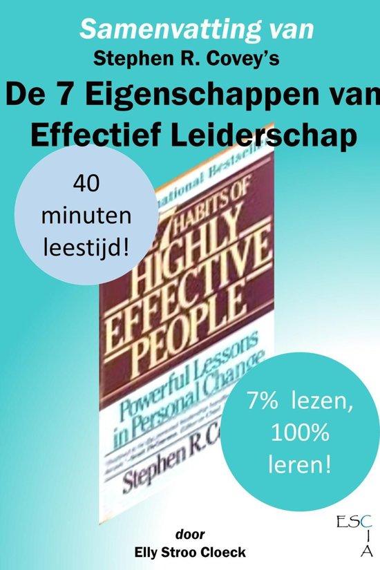 Boek cover Klassiekers Collectie - Samenvatting van Stephen R Coveys De 7 Eigenschappen van Effectief Leiderschap van Elly Stroo Cloeck (Onbekend)
