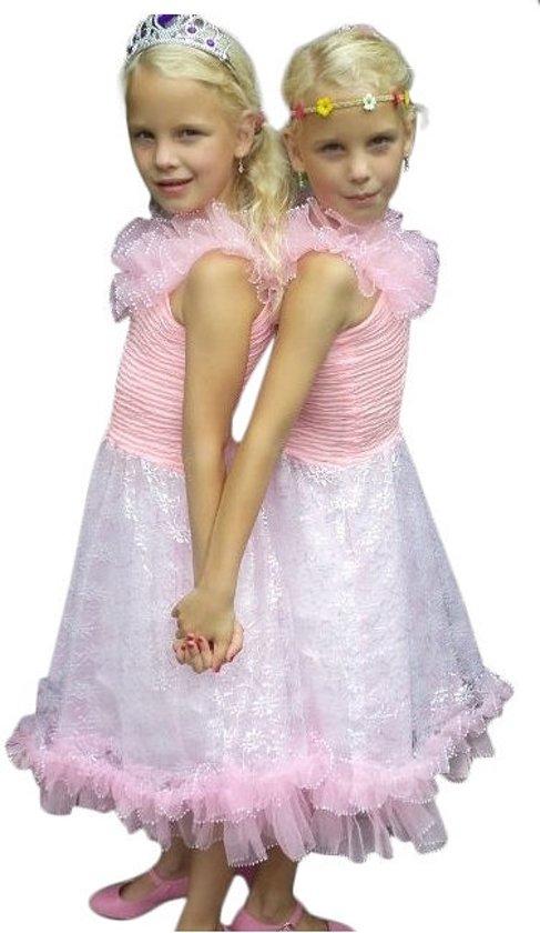 Prinsessen jurk - Roze - Maat 104/110 (6) - Verkleed jurk
