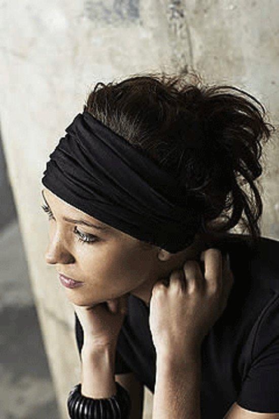 Dames haarband  Zwart