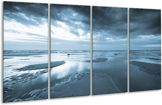 Glas schilderij Zee | Blauw | 160x80cm 4Luik | Foto print op Glas |  F006378