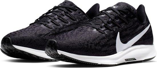 Nike Wmns Air Zoom Pegasus 36 Dames Hardloopschoenen - Black/White-Thunder Grey - Maat 39