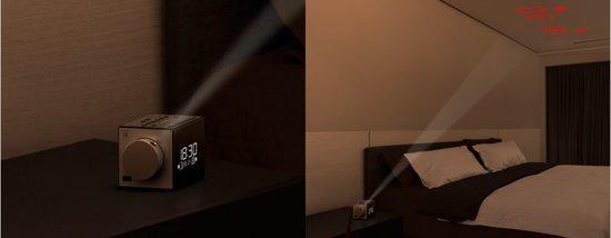 Sony ICF-C1PJ Wekkerradio met Tijdprojector 10,1 x 10,1 cm