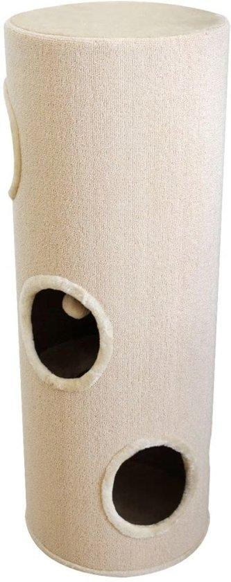 vidaXL Kattenhuis/krabpaal beige 100 cm