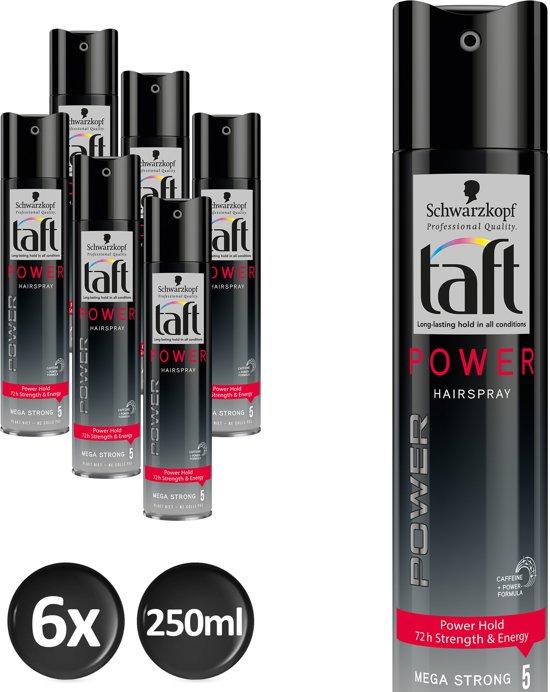 Schwarzkopf Taft Power Haarspray 250 ml- 6 stuks - Voordeelverpakking