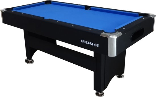 BuckShot Pooltafel 6ft Winner - Zwart