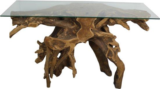 HSM Collection - Wandtafel root teak Blank - 120*40*70