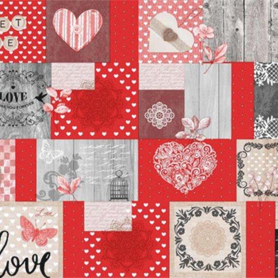 PVC Tafellaken - Tafelkleed - Tafelzeil - Kerstmis - Feestdagen - Opgerold op koker - Geen plooien - Duurzaam - 140 cm x 250 cm - Sweet Love Rood