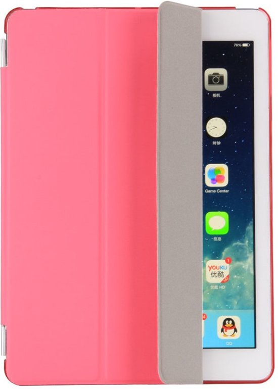 Shop4 - iPad 9.7 (2017) Hoes - Smart Cover Companion Case Roze in Ter Maarsch