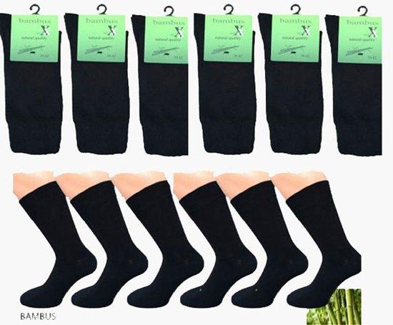 dff3c776fcc bol.com | Bamboe sokken 6 paar ( zwart ) 39-42