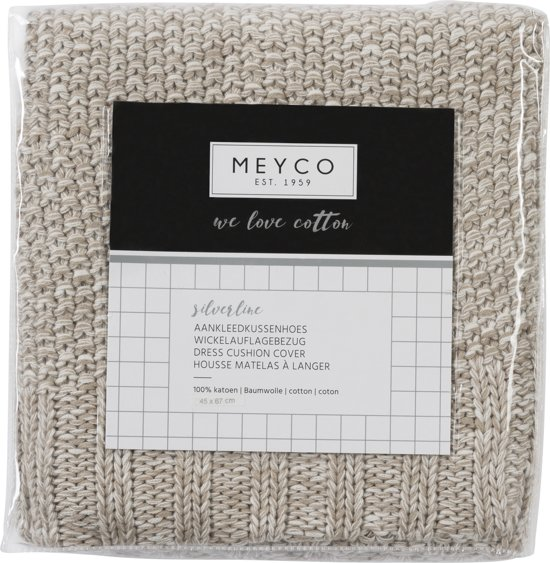 Meyco Silverline Relief Mixed aankleedkussenhoes - zand