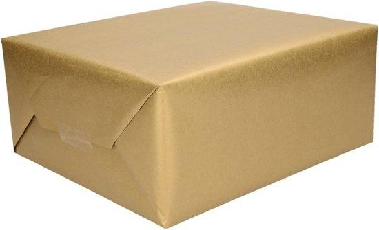 Cadeaupapier goud - 500 x 50 cm - kadopapier / inpakpapier