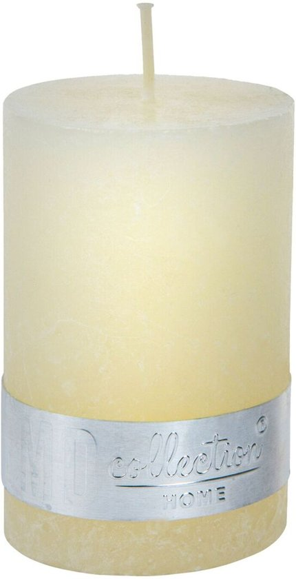 Kaars Rustic cream white pillar 8x5