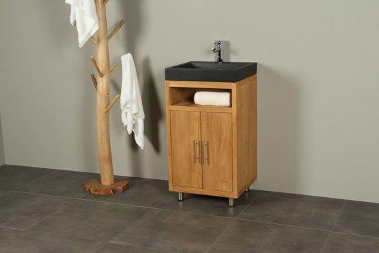 Bol.com badkamermeubel hout teak raung cabinet met wastafel uit