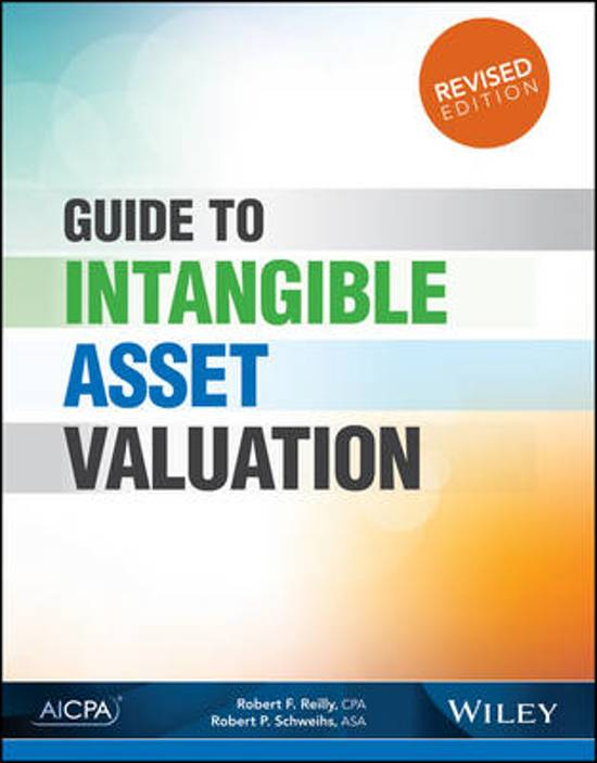Bol Guide To Intangible Asset Valuation Robert F Reilly