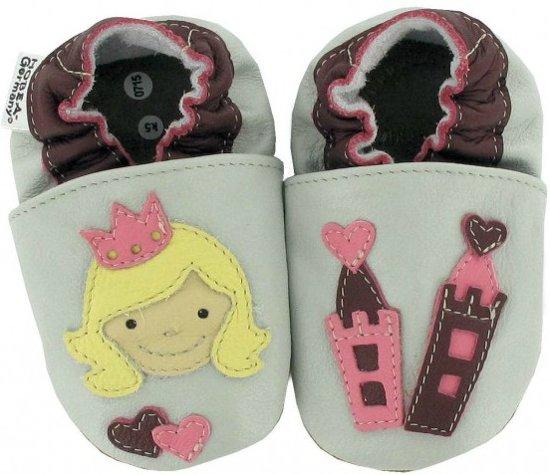 Hobea babyslofjes Prinzessin grau
