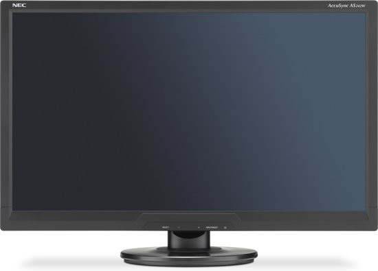 "NEC AccuSync AS242W 24"" Full HD TN Zwart"