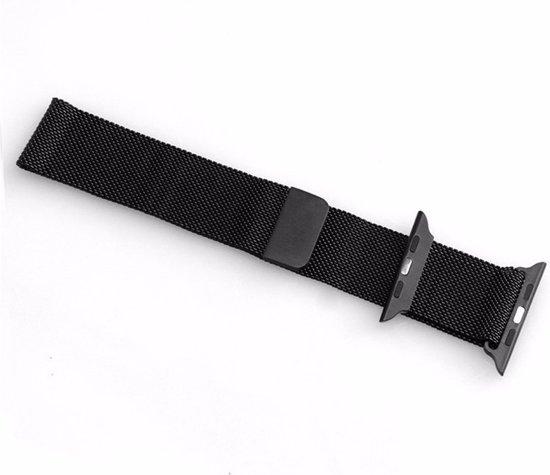 Milanese Loop Armband Voor Apple Watch Series 1/2/3 42 MM Iwatch Metalen Milanees Horloge Band - Zwart