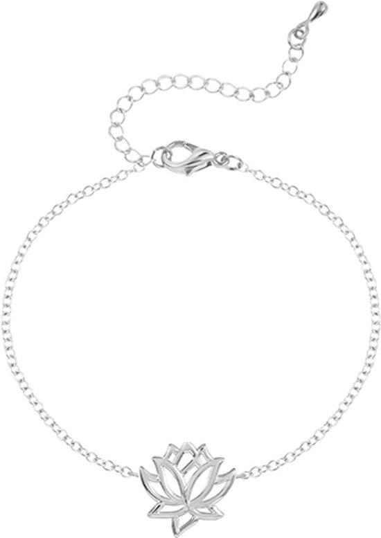 24/7 Jewelry Collection Lotusbloem Armband - Lotus Bloem - Zilverkleurig