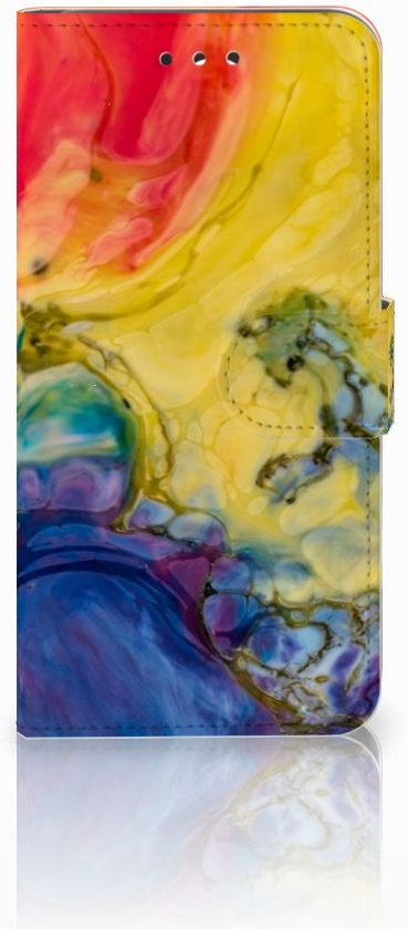 LG G7 Thinq Uniek Boekhoesje Watercolor Dark