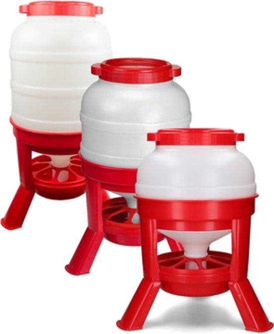 Voertoren 40 liter rood