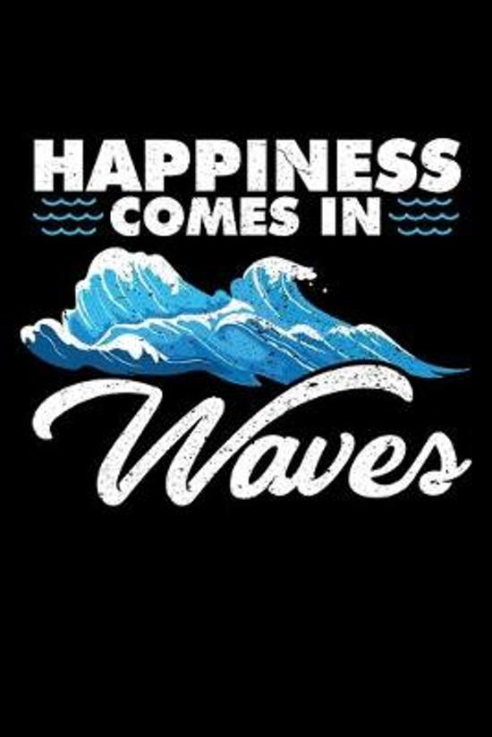 Happiness Comes in Waves: A Journal, Notepad, or Diary to write down your thoughts. - 120 Page - 6x9 - College Ruled Journal - Writing Book, Per