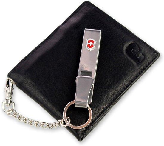 45e9e5ff2b6 Safekeepers portemonnee met clip - RFID - Echt leer - Westport - Zwart
