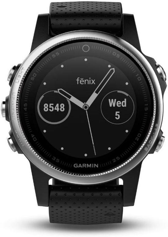 Garmin Fenix 5S - GPS multisport smartwatch met polshartslagmeter - Ø 42 mm - Zilver/ Zwart