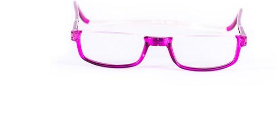 Easy Reader Magneetleesbril Halfrond paars +1.00