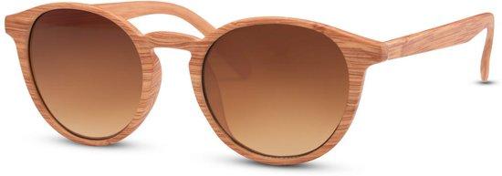 2f97be18a080d0 Cheapass Zonnebrillen - Ronde zonnebril - Goedkope zonnebril - Houten  zonnebril