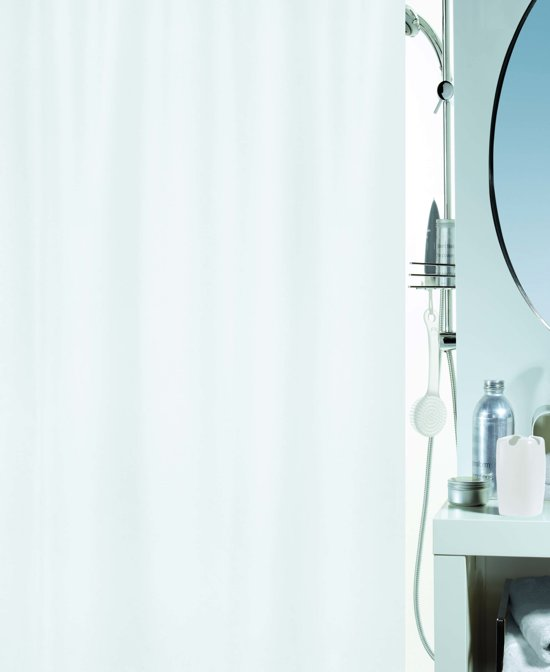 SPIRELLA  decor ALTRO - douchegordijn   - TEXTIEL - 180  x 200 cm - WIT
