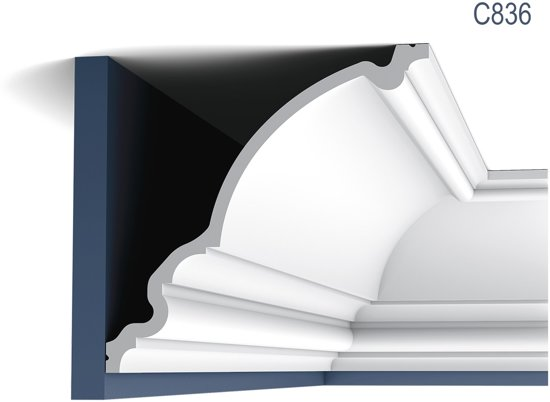 Kroonlijst Orac Decor C836 XTERIO Sierlijst tijdeloos klassieke stijl wit 2m