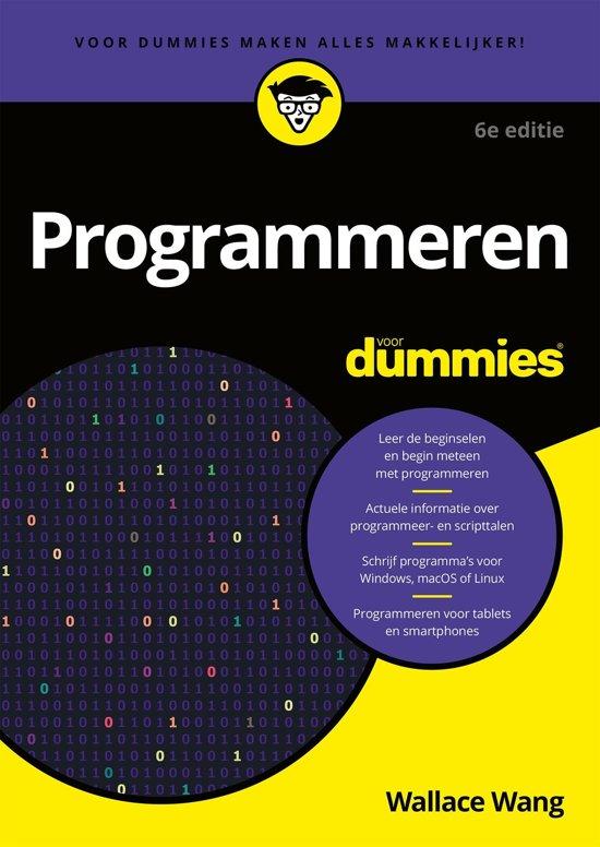 Boek cover Voor Dummies - Programmeren voor Dummies van Wallace Wang (Onbekend)