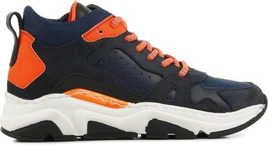 Hip Mannen Sneakers -  H1104 - Blauw - Maat 38