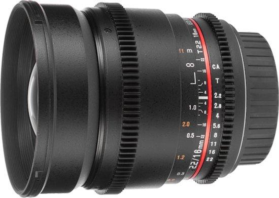 Samyang 16mm T2.2 ED AS UMC CS VDSLR - Prime lens - geschikt voor Canon M