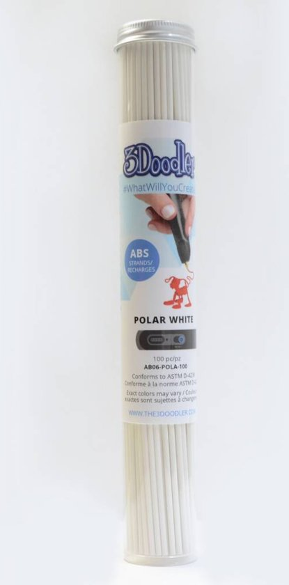 3Doodler Polar White ABS Tube