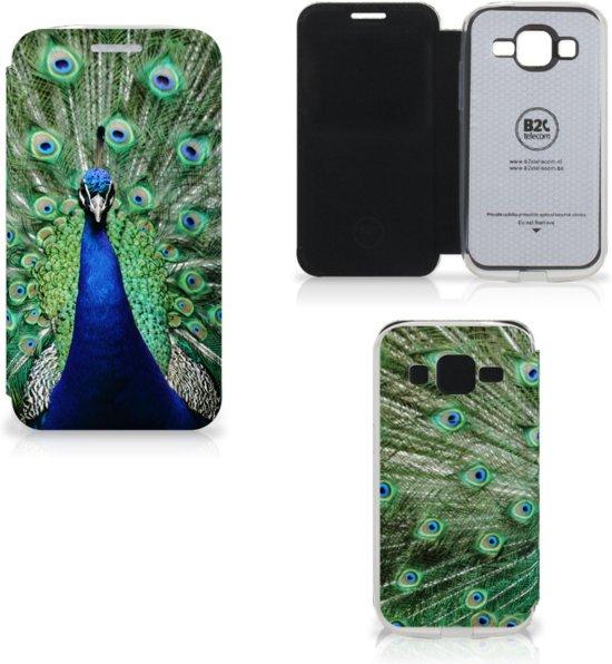Samsung Galaxy Core Prime Uniek Hoesje Pauw in Raeren