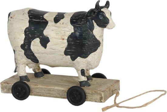 Kussen Wit 12 : Bol.com 6pr0035 koe bonte op wielen 14 x 7 x 12 cm kunststof