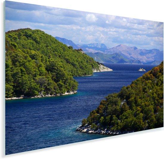 De noordelijke kust van het Nationaal park Mljet in Kroatië Plexiglas 30x20 cm - klein - Foto print op Glas (Plexiglas wanddecoratie)