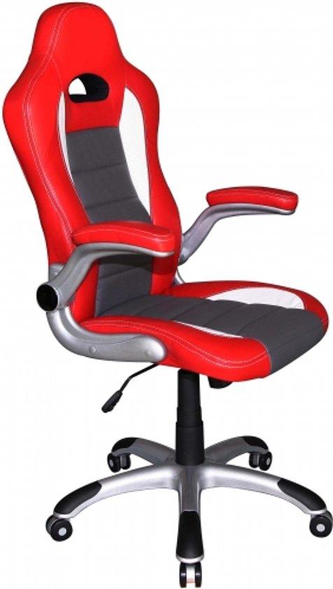 Hjh Office Bureaustoel Racer Sport.Hjh Office Racer Sport Bureaustoel Gamingstoel Rood Wit
