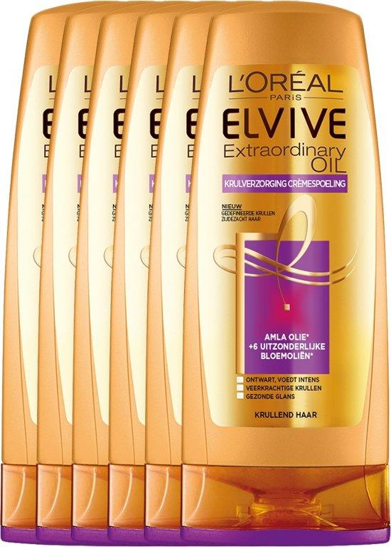 L'Oréal Paris Elvive Extraordinary Oil Conditioner - 6 x 200 ml - Krullend Haar - Voordeelverpakking
