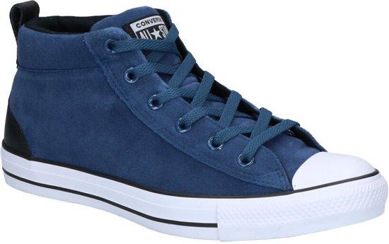 Converse - As Mid - Sneaker hoog gekleed - Heren - Maat 41,5 - Blauw;Blauwe  - Mason Blue/Black/White