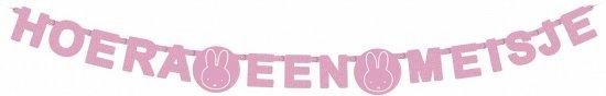 Letterslinger Nijntje roze hoera een meisje