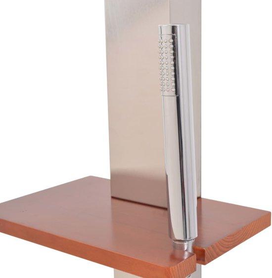 vidaXL Tuindouche 2 st 210 cm roestvrij staal