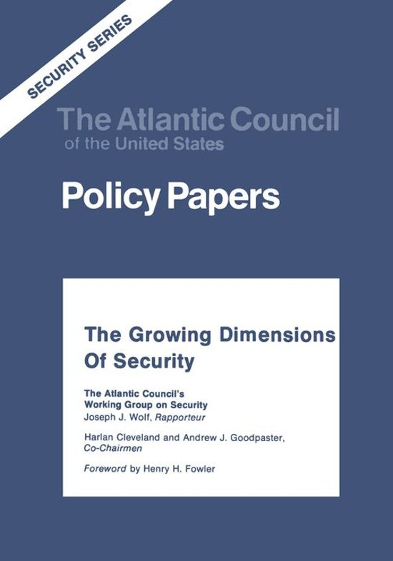 The Growing Dimensions of Security