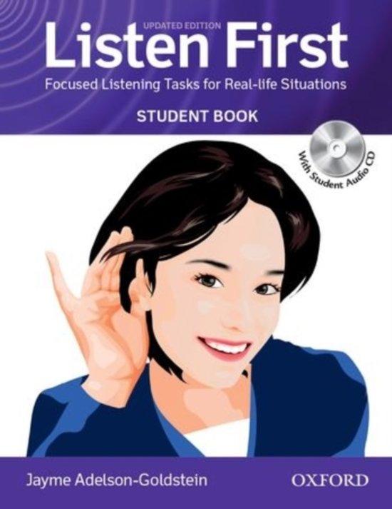 Listen First. Student Book avec 1 CD audio - Jayme Adelson-Goldstein