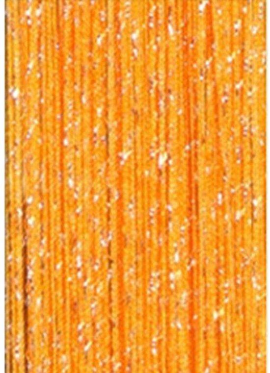 glitter gordijn draadgordijn decoratie koord gordijn oranje goudkleurig livingspot