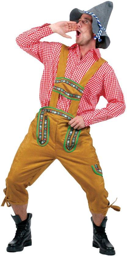 Boeren Tirol & Oktoberfest Kostuum | Alpen Jodelaar Man | Maat 56-58 | Bierfeest | Verkleedkleding
