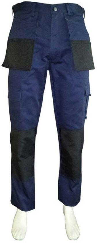 Yoworkwear Werkbroek polyester/katoen navy/zwart maat 49